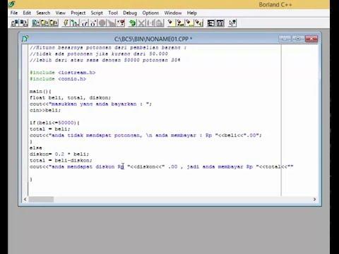Cara Penulisan If Else Pada C++