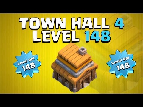 HIGHEST LEVEL TOWN HALL 4 IN CLASH OF CLANS! | Level 148 Town Hall 4!