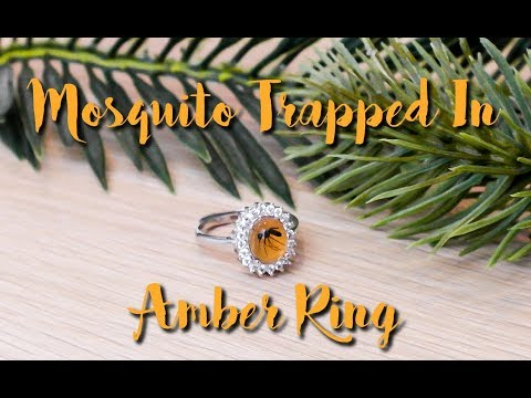 DIY MOSQUITO TRAPPED IN AMBER RING / UV RESIN AND POLYMER CLAY