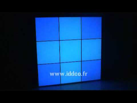 cadre lumineux mur led decoration youtube. Black Bedroom Furniture Sets. Home Design Ideas