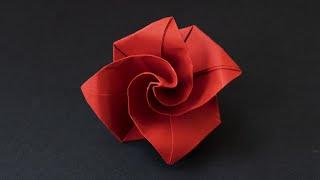 Easy Origami Rose / Simple Paper Flower