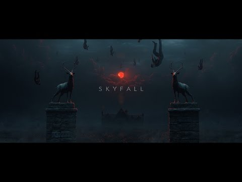 "Homage to ""Skyfall"" title sequence"