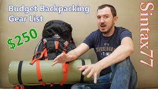 Budget Backpacking Gear List  - Go Camping for $250