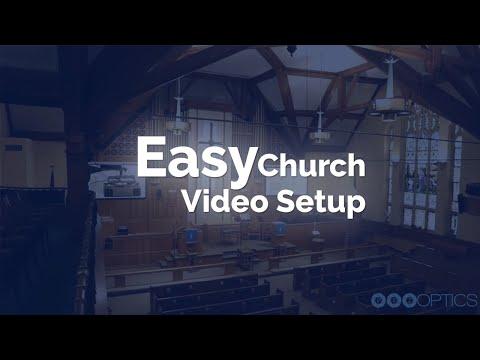 Easy Church Video Setup - USB PTZOptics Camera + Audio Mixer