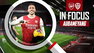 Pierre-Emerick Aubameyang | Every Touch | Arsenal vs Leeds (4-2) | Premier League highlights
