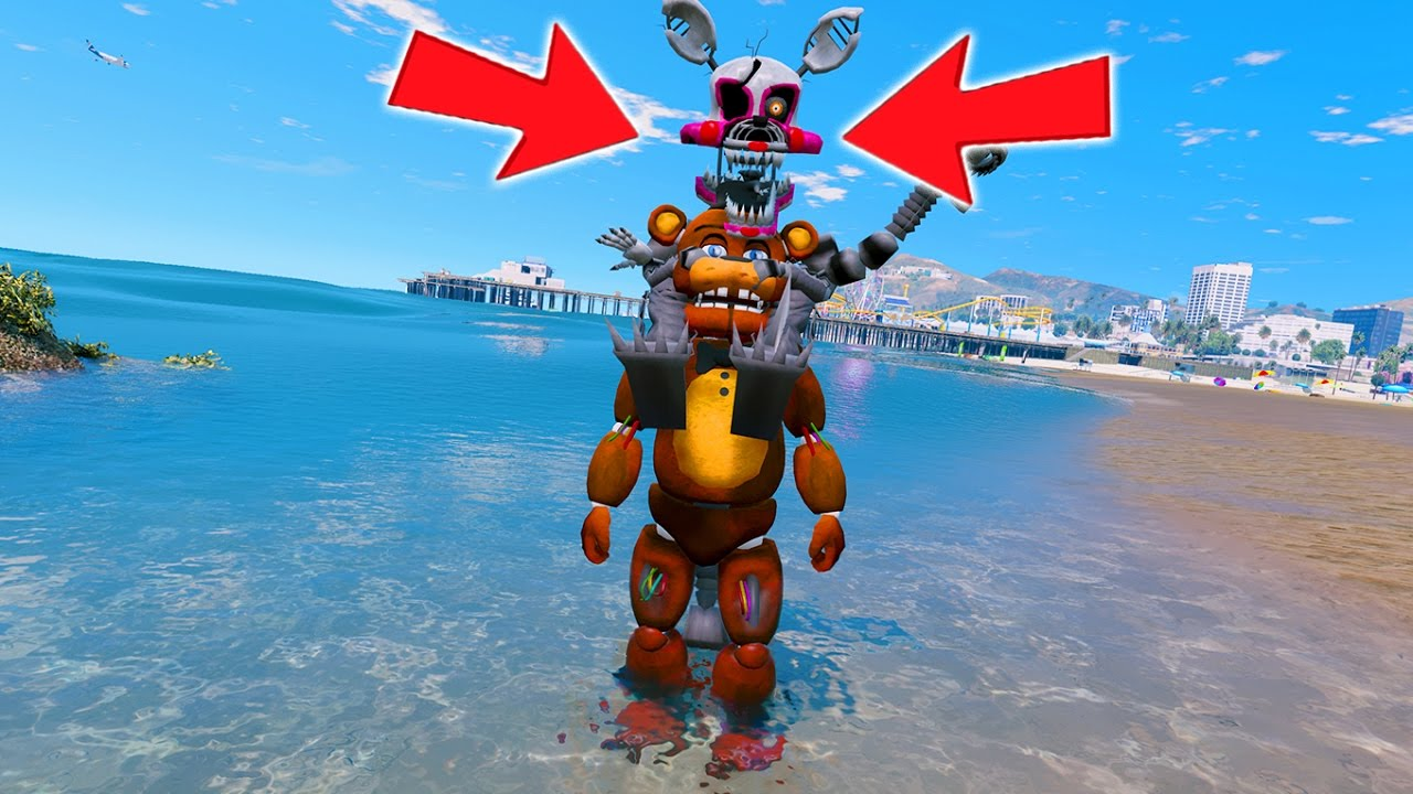 Nightmare Mangle Rides On Top Of Withered Freddy Ultimate