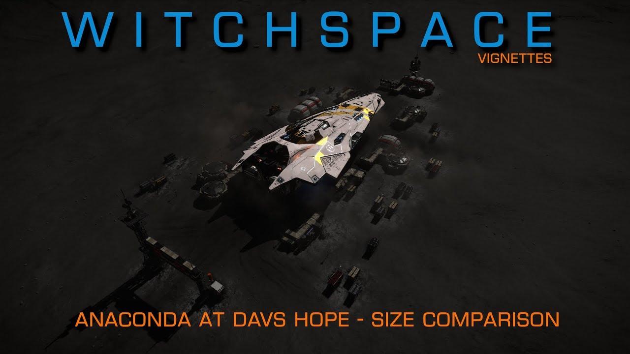 Witchspace Elite Dangerous Anaconda Davs Hope Size Comparison