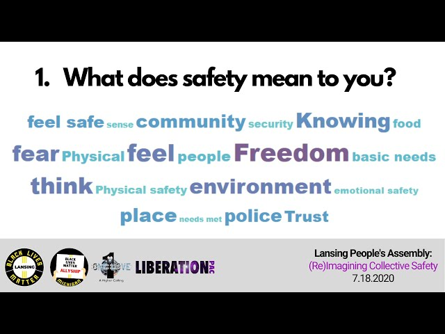 Lansing People's Assembly on Safety - July 18, 2020
