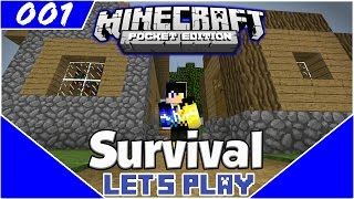 Survival Let's Play EP.1- DIAMONDS ON A RANDOM SEED!-Minecraft PE(Pocket Edition)
