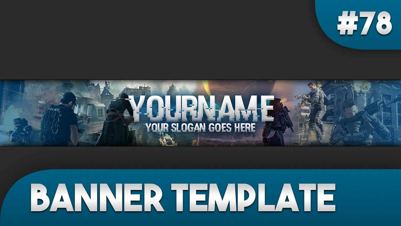 Gaming YouTube Banner Template 78 - Free Photoshop Download - YouTube