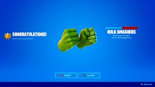 HOW TO GET HULK SMASHERS PICKAXE IN FORTNITE!