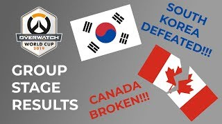 SOUTH KOREA DEFEATED!!! - Overwatch World Cup 2019 Group Stage Results