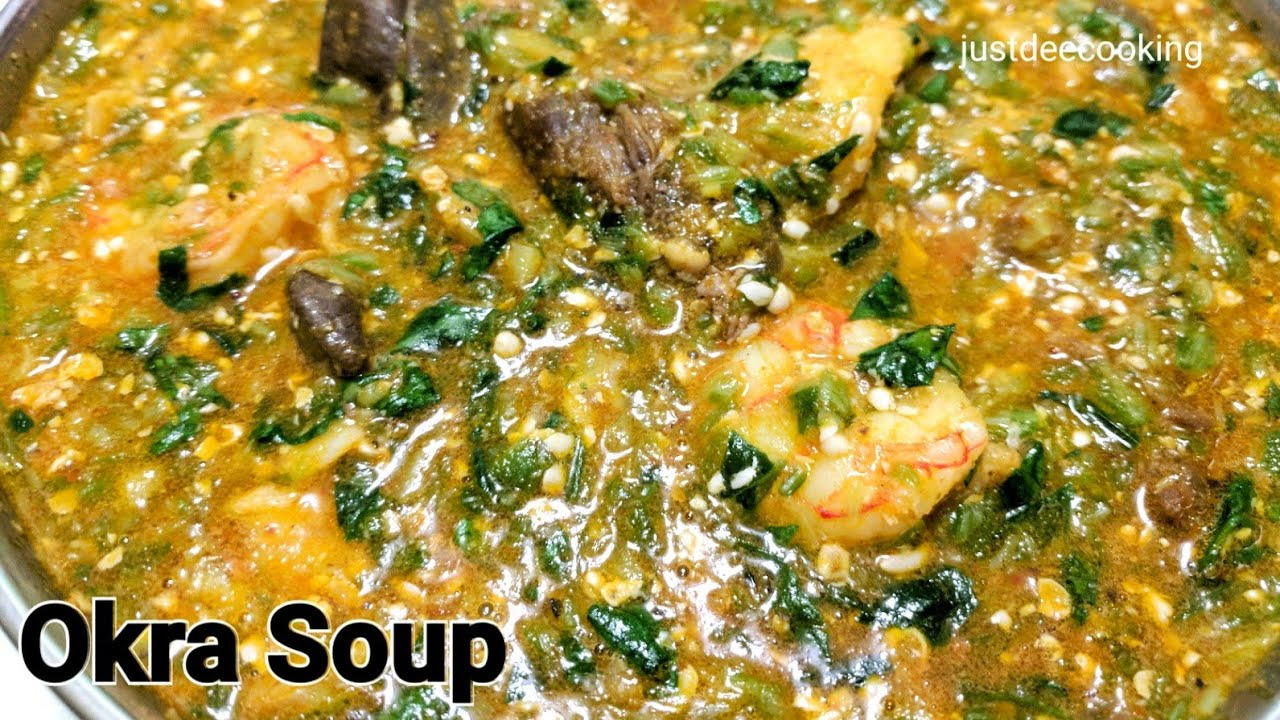How To Make Nigerian Okra Soup Quick Easy Youtube