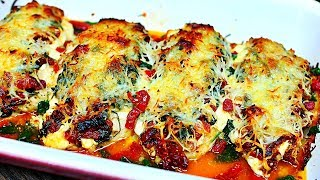 Chicken and Cheese Casserole with Sun Dried Tomatoes Recipe