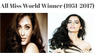 All Beautiful Miss World Winners' From 1951 2017 2017 67 Most Beautiful Miss World Winners List