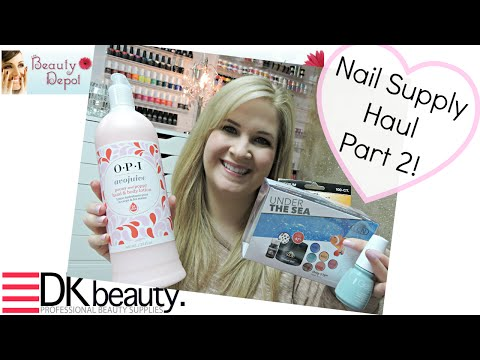 Nail Supply Haul Part 2 - Alberta Beauty Systems, DK Beauty, The Beauty Depot