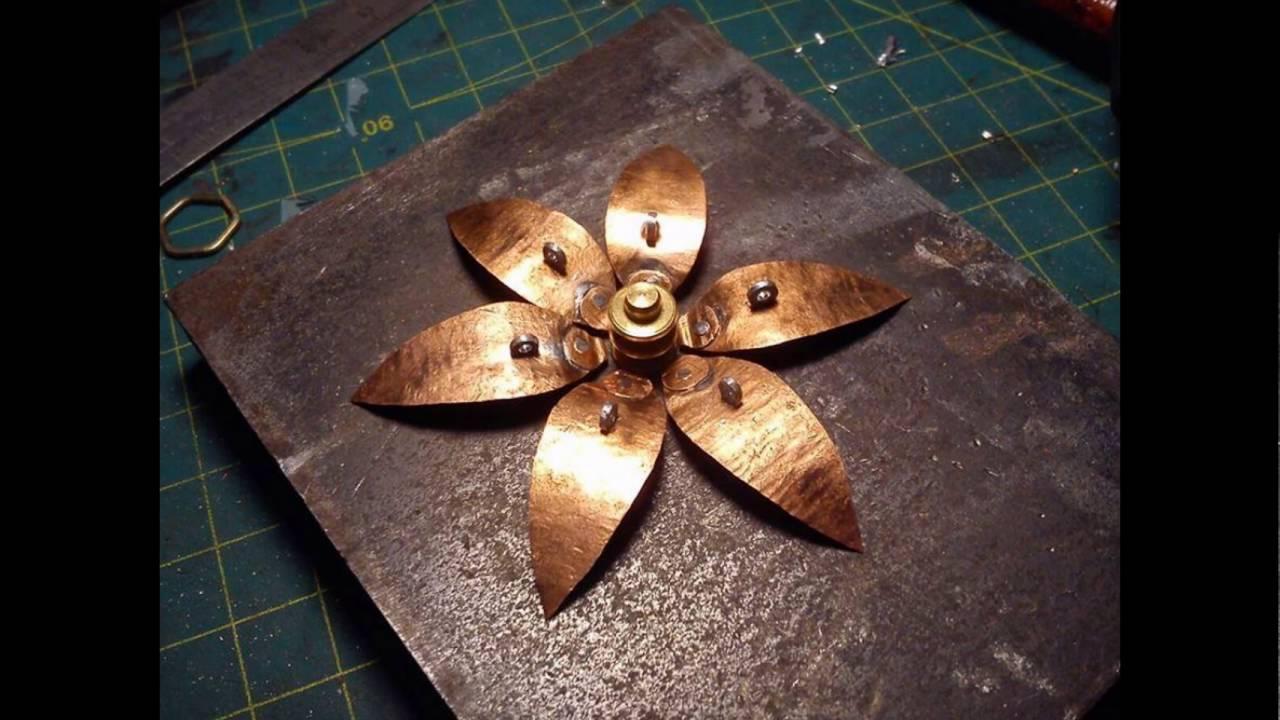 Making Metal Flower From Scrap Brass Copper Aluminium