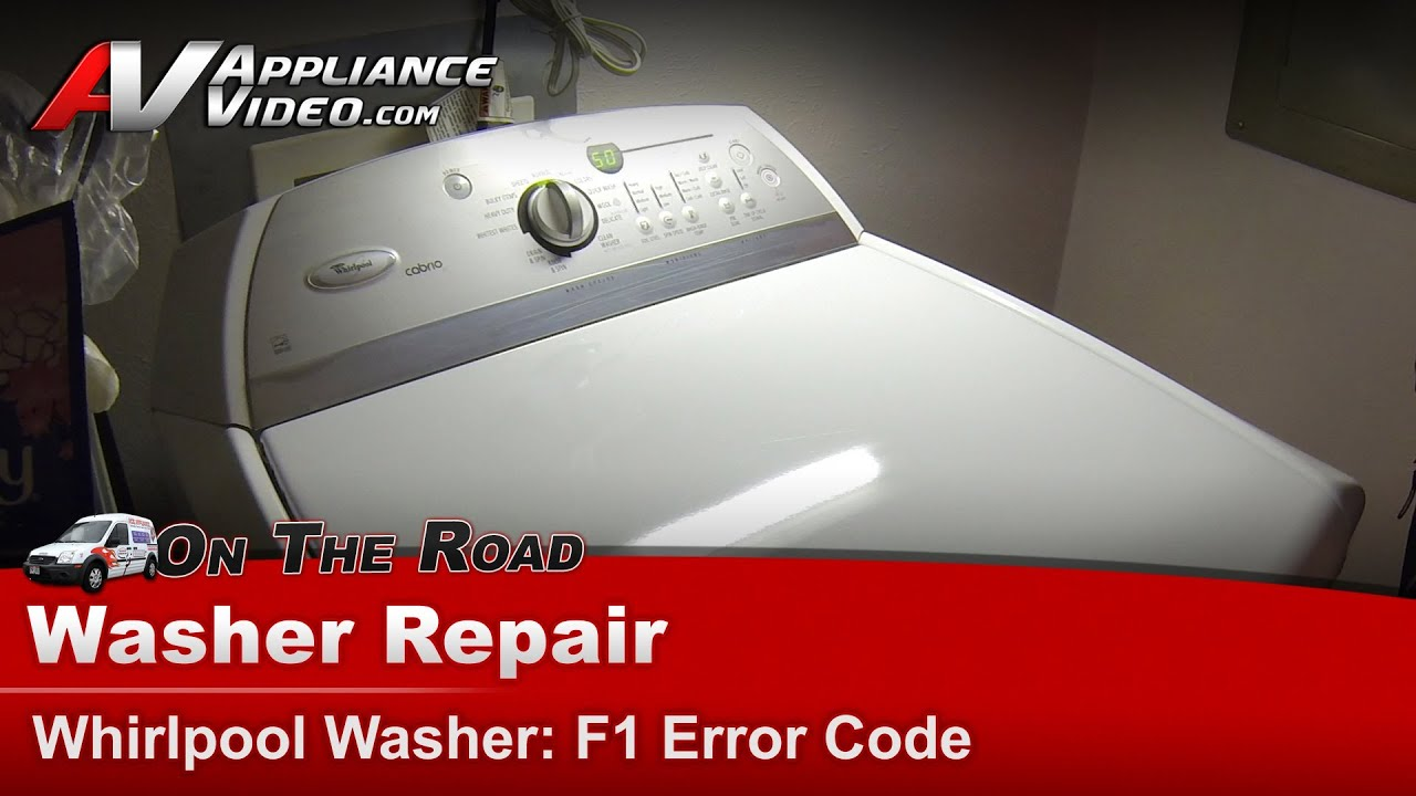 Washer Diagnostic Amp Repair F1 Error Code Power Supply