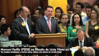Marconi Perillo na filiação de Lúcia Vânia ao PSB