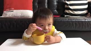 [아빠시점 육아일기] 15개월 아기 요플레 먹방