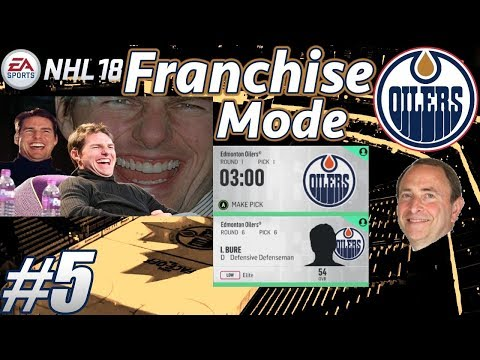 "NHL 18 Franchise Mode - Edmonton Oilers #5 ""DRAFT - Edmonton Lottery Luck!"""