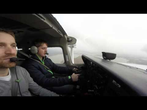 Cessna 172 Full Flight [Bad Weather] (Uncut)