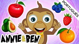 Canção de frutas   Música infantil   Educação @Annie e Ben   Desenhos animado