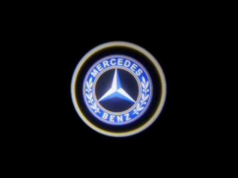 led t r beleuchtung logo audi bmw mercedes vw porsche. Black Bedroom Furniture Sets. Home Design Ideas