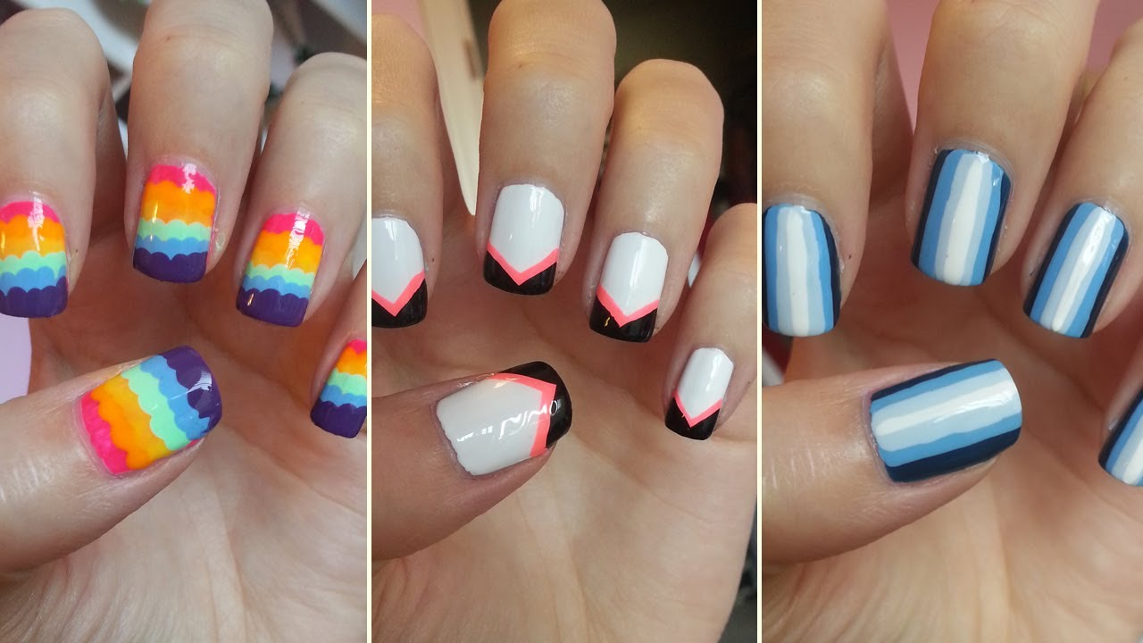 Easy Nail Art For Beginners 5 Youtube