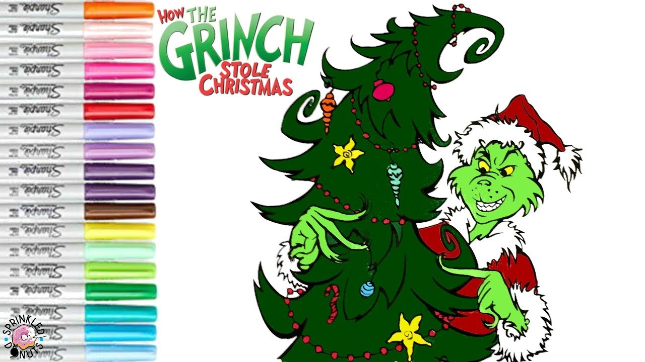 Coloring How the Grinch Stole Christmas Coloring Book Page Whoville ...