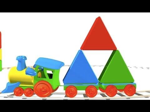 Figuras geométricas para niños - Triángulo - Trenes para niños ...