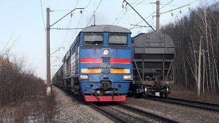 Опытный поезд в 120 вагонов, разжалованные московские электрички и прочие поезда.