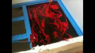 SWIRLING(Red & Black Custom Guitar)