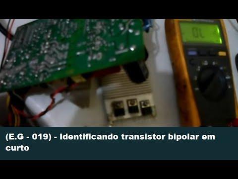 Identificando transistor bipolar em curto