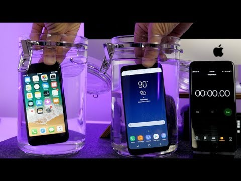 iPhone 8 vs Samsung Galaxy S8 Water Test! Really Waterproof?