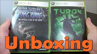 King Kong  \ Turok - Xbox 360 - UNBOXING