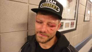 JOHN WAYNE HIBBERT REACTS TO HEARTBREAKING DEFEAT TO  SCARPA & QUESTIONS HANGING UP THE GLOVES