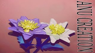 Amazing Make Beautiful Flower with Paper   Making DIY Paper Flower   creation New tutorial