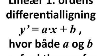 Meget kort om homogene og inhomogene differentialligninger