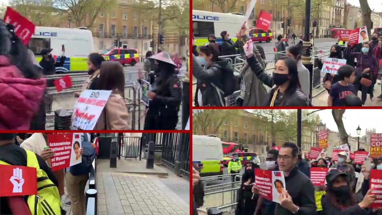 ကမ္ဘာလုံးဆိုင်ရာ နွေဦးတော်လှန်ရေးနေ့ လန်ဒန်မြို့က ဆန္ဒပြပွဲ