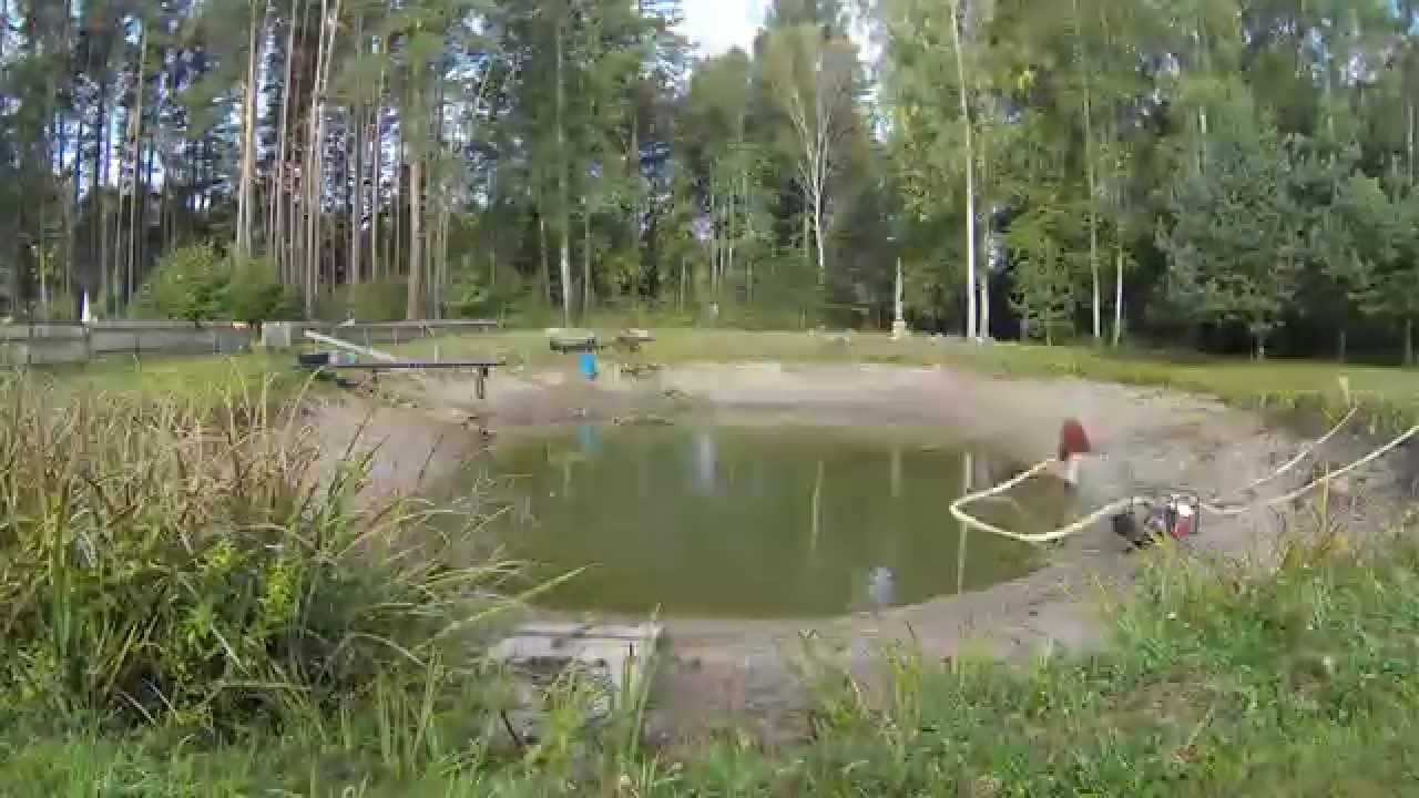 Pond cleaning - YouTube