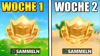 *NEW* FREE Levels ⭐ Secret Battle Pass Star Week 1 and 2 | Fortnite Season 10 German