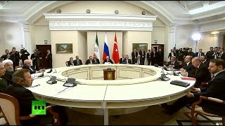 Putin, Rouhani & Erdogan meet for Syria talks in Sochi