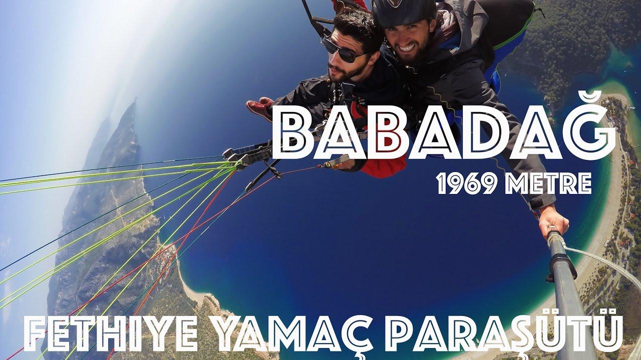 Yamaç Paraşütü Fethiye Drone İle Takibi Birazda akrobasi (BABADAĞ 1969M)