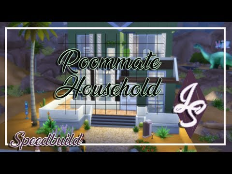Jane Harlow|| Roommate Household|| Sims 4||Speed Build||