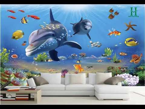 Những mẫu tranh dán tường 3d đẹp cho phòng khách và phòng ngủ