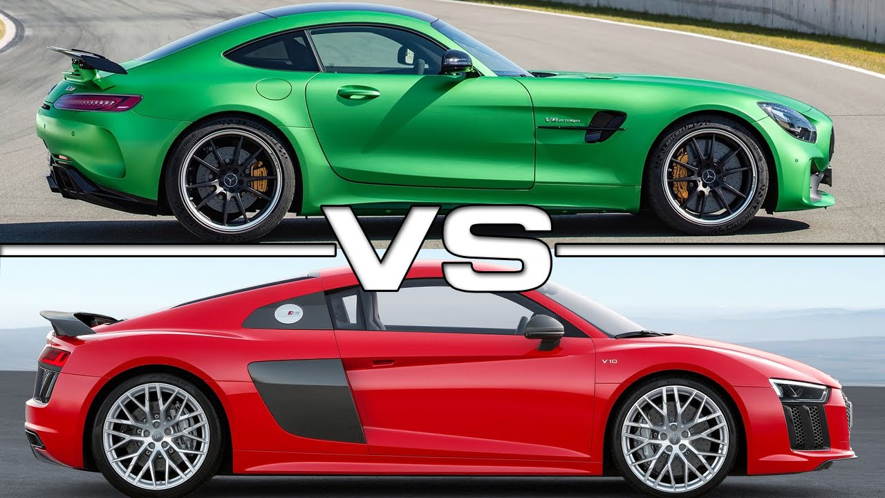 Mercedes Amg Gt R Vs Audi R8 V10 Plus Youtube