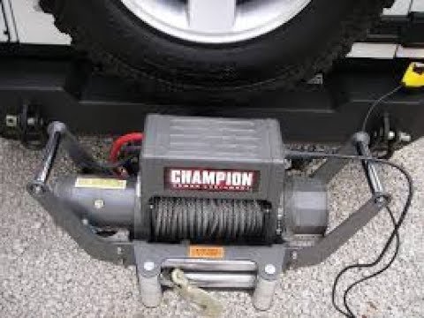 car trailer winch install