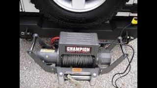 car trailer winch install