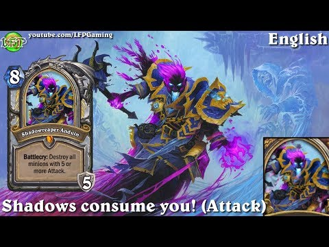 Hearthstone: Shadowreaper Anduin card sounds in 14 languages -Knights of the Frozen Throne -Hero